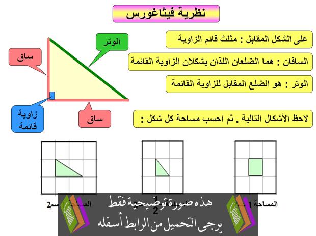 حل كتاب الرياضيات ثاني متوسط نظرية فيثاغورس